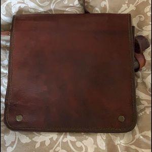LeAther boho bag satchel